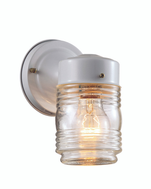 """Quinn 7"""" Outdoor White Traditional Wall Lantern"""