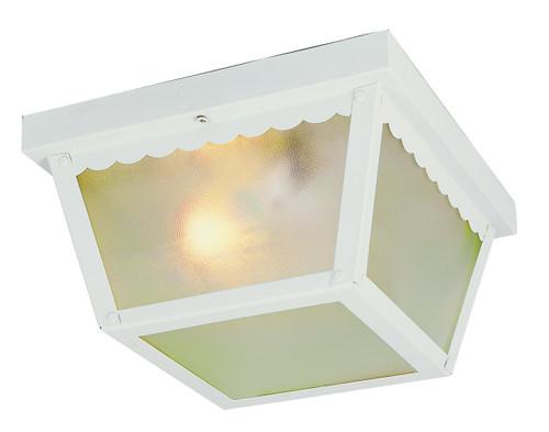 "Samantha 5"" Outdoor White Traditional Flushmount Lantern"