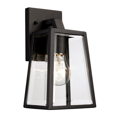 """Obsidian 10"""" Outdoor Black Transitional  Wall Lantern with Minimalist Design Profile"""