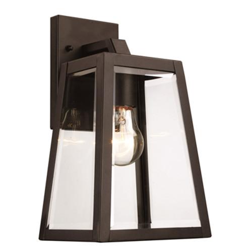 "Trans Globe Lighting 50211 BK 12"" Outdoor Black Transitional  Wall Lantern"