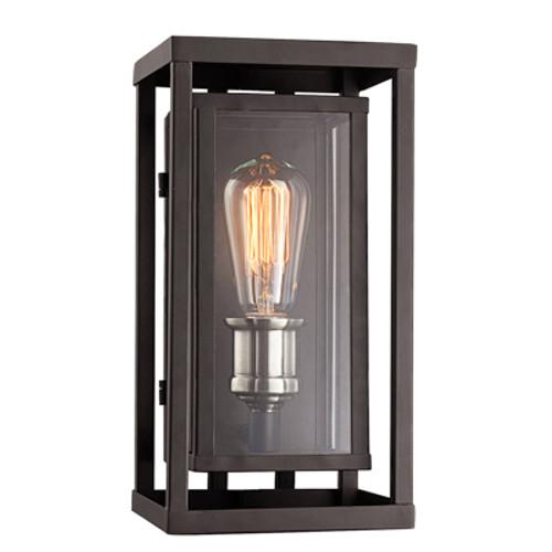 """Showcase 11"""" Outdoor Black Contemporary Wall Lantern"""