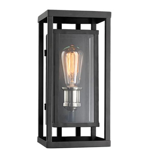 """Showcase 13"""" Outdoor Black Contemporary Wall Lantern"""