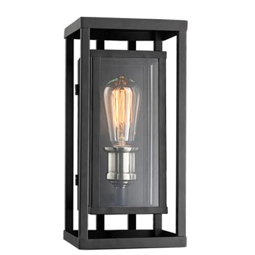 """Showcase 15.5"""" Outdoor Black Contemporary Wall Lantern"""
