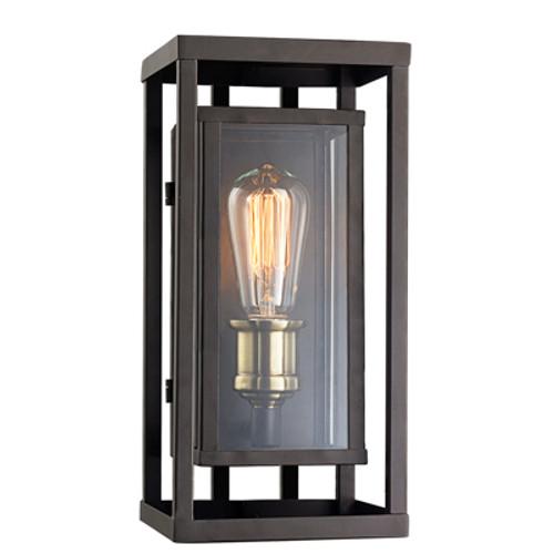 "Trans Globe Lighting 50222 ROB 15.5"" Outdoor Rubbed Oil Bronze Contemporary Wall Lantern"