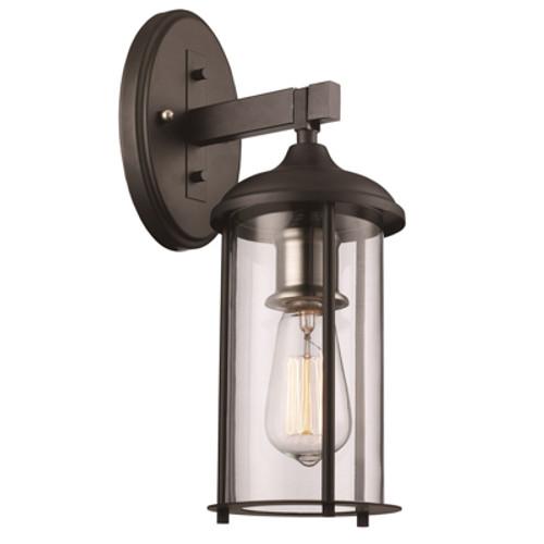 "Trans Globe Lighting 50231 BK 15.5"" Outdoor Black Traditional Wall Lantern"