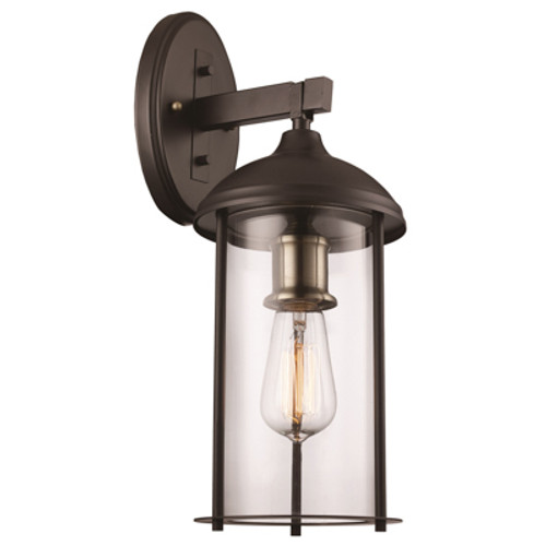 """Blues Collection 16.5"""" Outdoor Rubbed Oil Bronze Traditional Wall Lantern"""