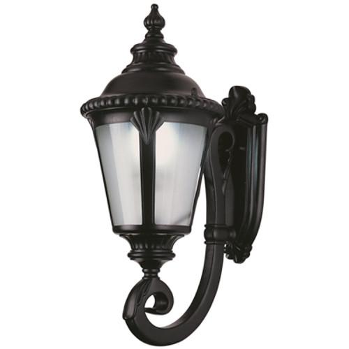 """Trans Globe Lighting 5042 BK 29"""" Outdoor Black Tuscan Wall Lantern"""
