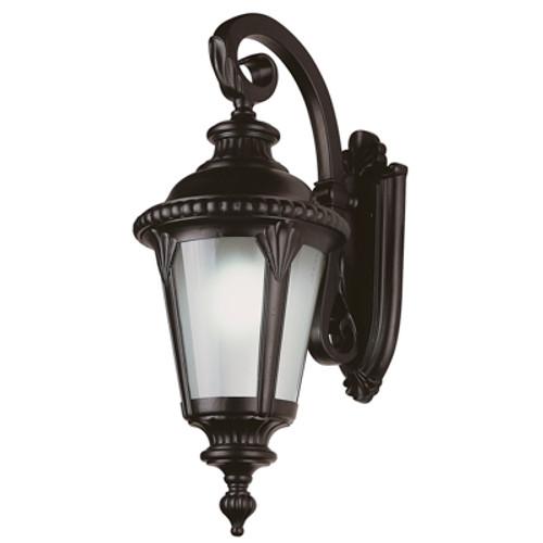 """Trans Globe Lighting 5045 BK 29"""" Outdoor Black Tuscan Wall Lantern"""