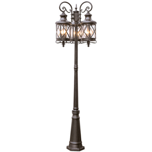 "Trans Globe Lighting 5127 ROB 81"" Outdoor Rubbed Oil Bronze Traditional Pole Light"