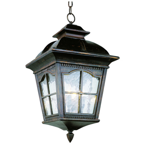"""Briarwood 21.5"""" Rustic Antique Outdoor Wall Lantern with Included Hanging Chain"""