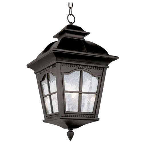 """Briarwood 21.5"""" Black Rustic Antique Outdoor Wall Lantern with Included Hanging Chain"""