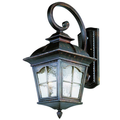 """Briarwood 30"""" Rustic Antique Outdoor Wall Lantern with Traditional Arched Window Panes"""