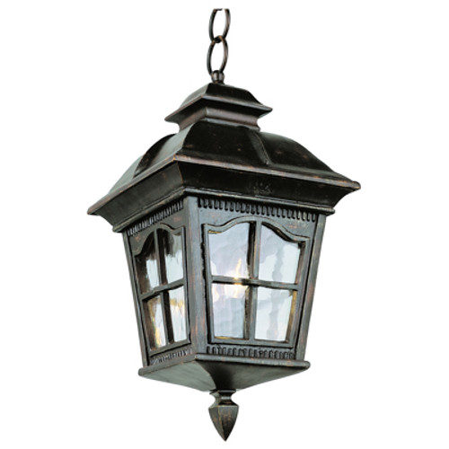 """Briarwood 23.75"""" Rustic Antique Outdoor Wall Lantern with with Traditional Arched Window Panes"""
