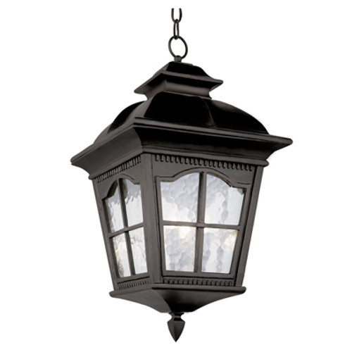 """Briarwood 23.75"""" Black Rustic Antique Outdoor Wall Lantern with Traditional Arched Window Panes"""
