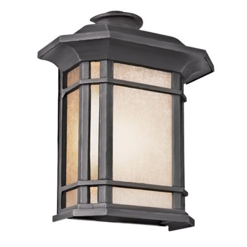 "San Miguel 14.75"" Outdoor Black Mission/Craftsman Pocket Lantern"