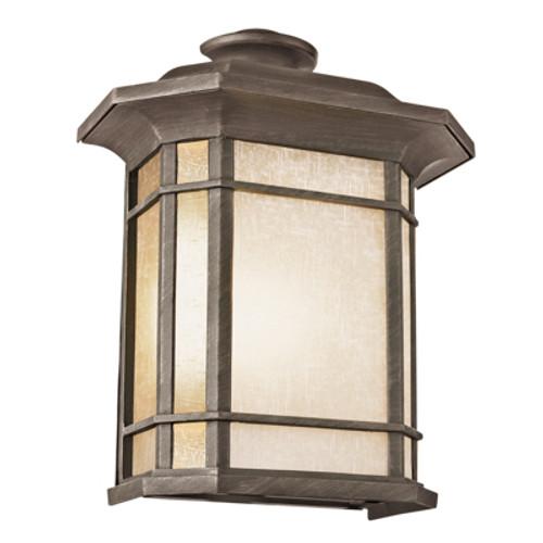 "San Miguel 14.75"" Outdoor Rust Mission/Craftsman Pocket Lantern"