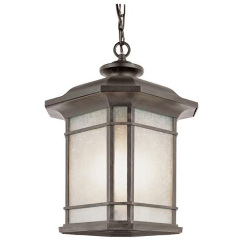 "Trans Globe Lighting 5825 RT 15.5"" Outdoor Rust Mission/Craftsman Hanging Lantern"
