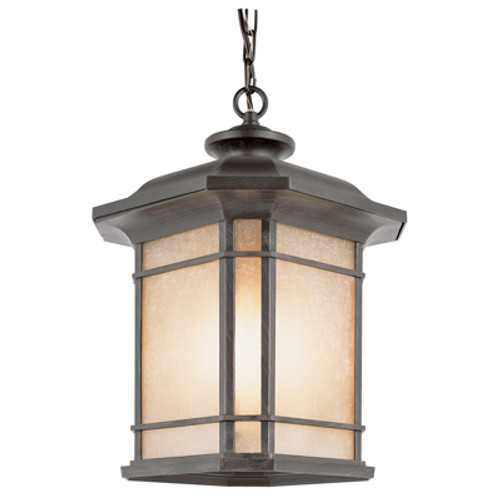 "San Miguel 18.25"" Outdoor Rust Mission/Craftsman Hanging Lantern"