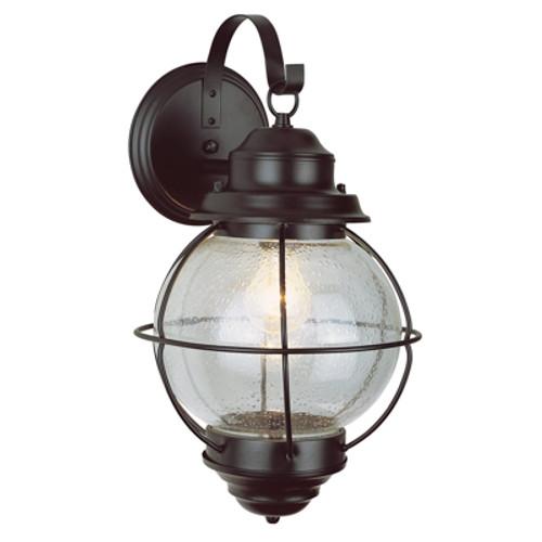 "Trans Globe Lighting 69901 BK 15"" Outdoor Black Nautical Wall Lantern"