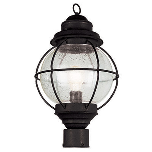"Trans Globe Lighting 69905 BK 19"" Outdoor Black Nautical Postmount Lantern"