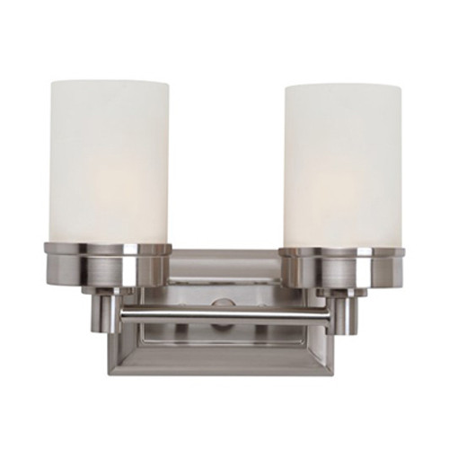 """Fusion 11.75"""" Indoor Brushed Nickel Contemporary Vanity Bar with Classic Minimalist Design"""