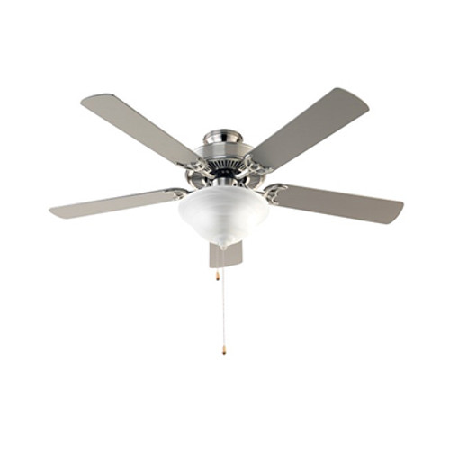 "Solana Solana 52"" Indoor Ceiling Fan with 5 Blade Durability and Elegant Brushed Nickel Finish"