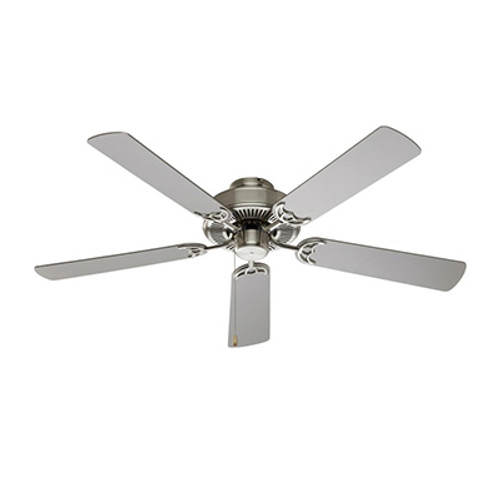"Trans Globe Lighting F-1001 BN 52"" Indoor Brushed Nickel Traditional Ceiling Fan"
