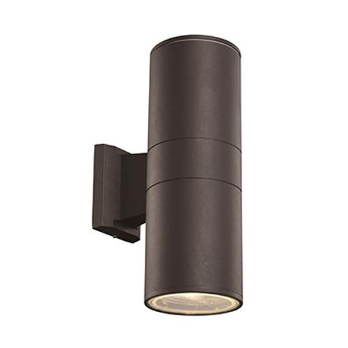 """Compact 10"""" Outdoor LED Black Modern Pocket Lantern with Minimal Cylinder Design"""