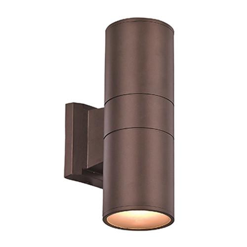"Compact 10"" Outdoor LED Bronze Modern Pocket Lantern with Minimal Cylinder Design"