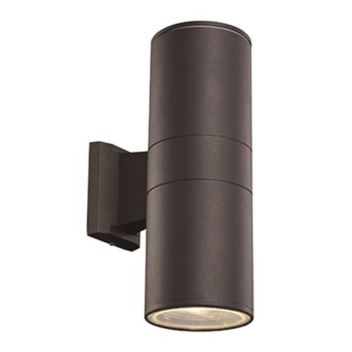 """Compact 12"""" Outdoor LED Black Modern Pocket Lantern with Minimal Cylinder Design"""