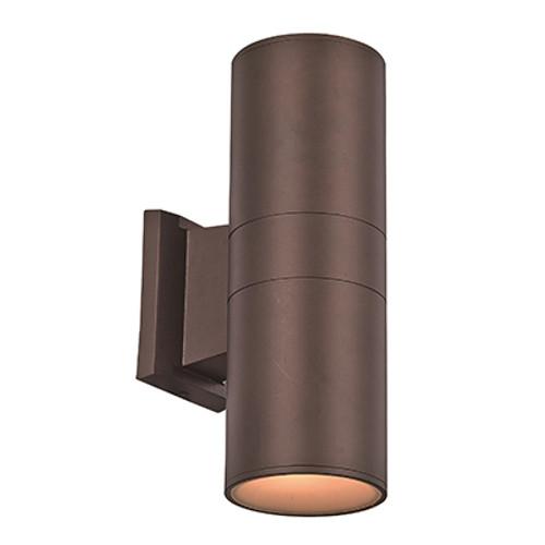 "Compact 12"" Outdoor LED Bronze Modern Pocket Lantern with Minimal Cylinder Design"