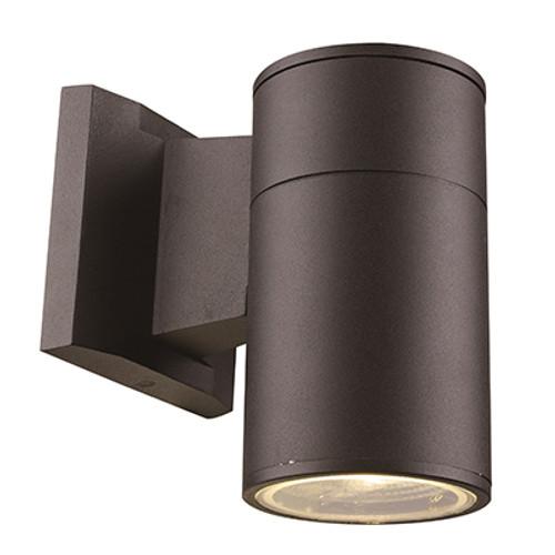 """Compact 6.25"""" Outdoor LED Black Modern Pocket Lantern with Minimal Cylinder Design"""
