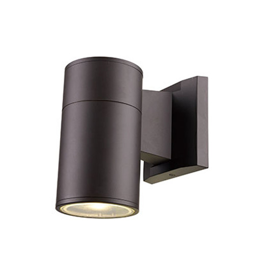 "Compact 6.25"" Outdoor LED Bronze Modern Pocket Lantern with Minimal Cylinder Design"