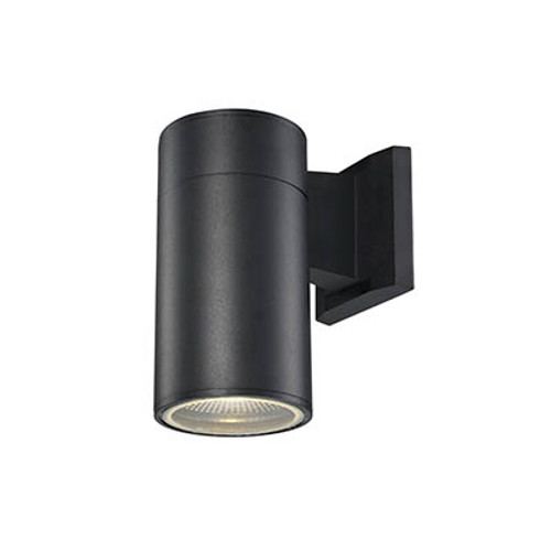 "Compact 8"" Outdoor LED Bronze Modern Pocket Lantern with Minimal Cylinder Design"