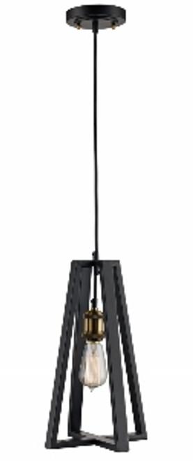 """Gatlin 7"""" Indoor Rubbed Oil Bronze Industrial Pendant with Adjustable Hanging Height"""