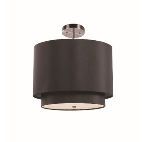 """Schiffer 15"""" Indoor Black and Brushed Nickel Contemporary Pendant"""