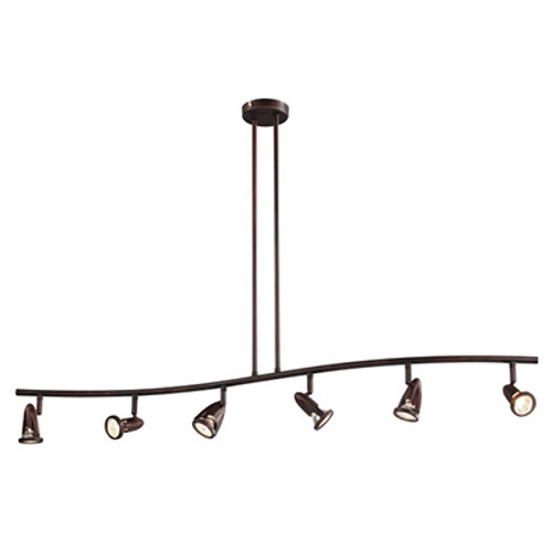 "Stingray 47.25"" Indoor Rubbed Oil Bronze Modern Track Light"