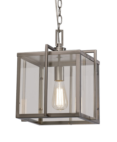 "Trans Globe Lighting 10210 BN 10"" Indoor Brushed Nickel Industrial Pendant"
