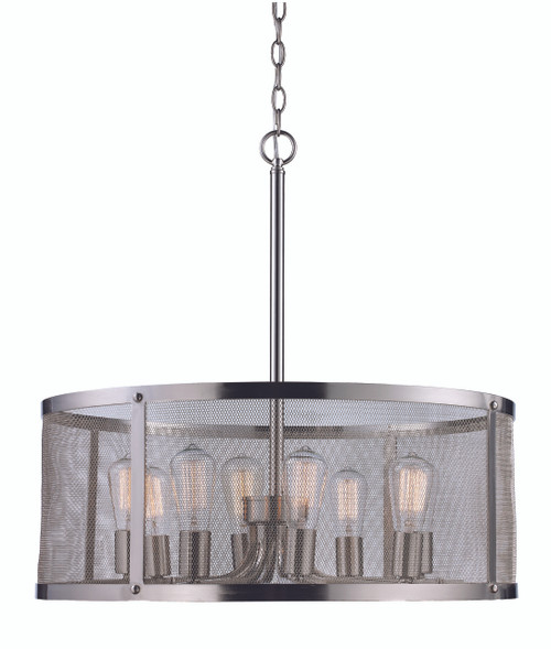 "Trans Globe Lighting 10228 BN 24.75"" Indoor Brushed Nickel Industrial  Pendant"