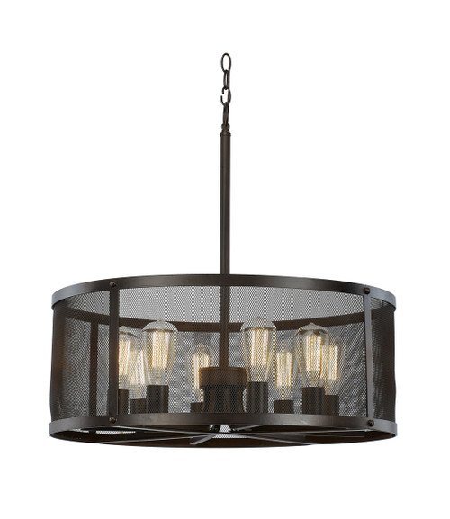 "Trans Globe Lighting 10228 ROB 24.75"" Indoor Rubbed Oil Bronze Industrial Pendant"