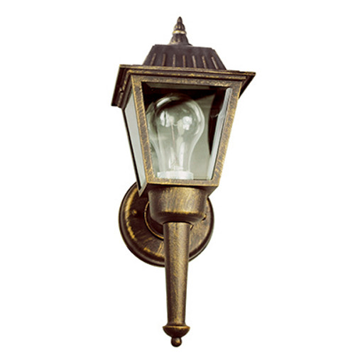 "Trans Globe Lighting 4005 RT 14"" Outdoor Rust Traditional Wall Lantern(Shown in BG Finish)"