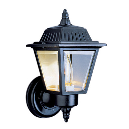 "Trans Globe Lighting 4006 BC 7.5"" Outdoor Black Copper Traditional Wall Lantern(Shown in Black Finish)"