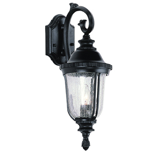"Trans Globe Lighting 4020 SWI 20"" Outdoor Swedish Iron Traditional Wall Lantern(Shown in Black Finish)"