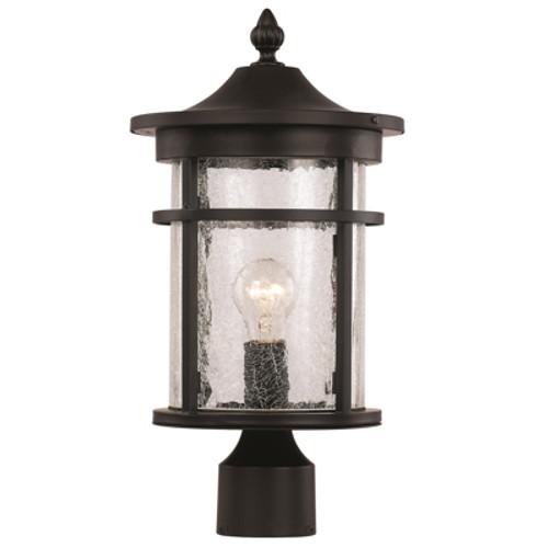 "Trans Globe Lighting 40383 RT 14.5"" Outdoor Rust Transitional Postmount Lantern(Shown in Black Finish)"