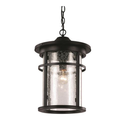 "Trans Globe Lighting 40385 RT 13.75"" Outdoor Rust Transitional Hanging Lantern(Shown in Black Finish)"