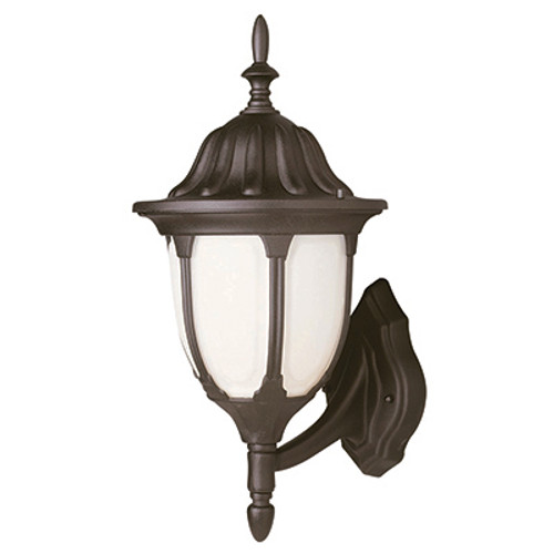 """Trans Globe Lighting 4041 BC 19"""" Outdoor Black Copper Traditional Wall Lantern(Shown in Black Finish)"""