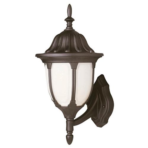 "Trans Globe Lighting 4041 RT 19"" Outdoor Rust  Traditional Wall Lantern(Shown in Black Finish)"