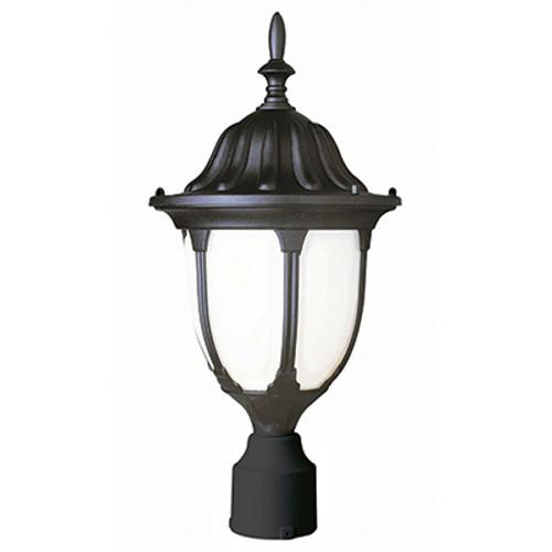 "Trans Globe Lighting 4042 BG 19"" Outdoor Black Gold Traditional Postmount Lantern(Shown in Black Finish)"