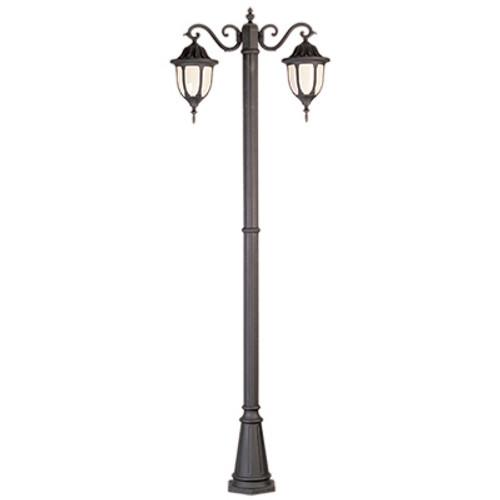 "Trans Globe Lighting 4043 BG 93"" Outdoor Black Gold Traditional Pole Light(Shown in Black Finish)"