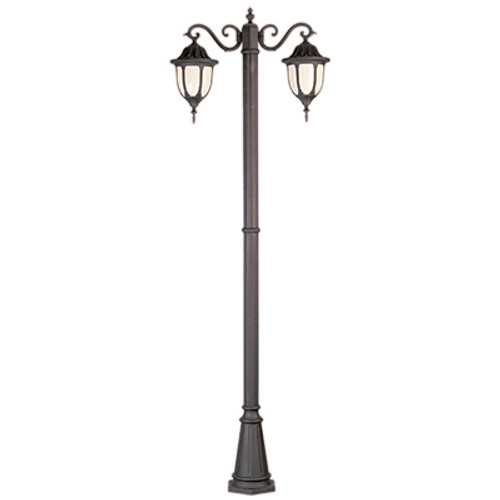 "Trans Globe Lighting 4043 WH 93"" Outdoor White Traditional Pole Light(Shown in Black Finish)"